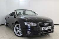 USED 2009 54 AUDI A5 2.0 TFSI S LINE 2DR 208 BHP SERVICE HISTORY + HEATED LEATHER SEATS + SAT NAVIGATION + PARKING SENSOR + CRUISE CONTROL + MULTI FUNCTION WHEEL + 18 INCH ALLOY WHEELS