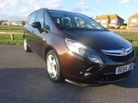 USED 2014 64 VAUXHALL ZAFIRA TOURER 2.0 EXCLUSIV CDTI 5d 128 BHP BROWN 1 OWNER