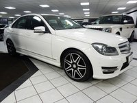 2013 MERCEDES-BENZ C CLASS C220 CDI AMG SPORT PLUS AUTO 170 BHP BLUEEFFICIENCY £13725.00