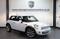 USED 2012 62 MINI HATCH COOPER 1.6 COOPER LONDON 2012 EDITION 3DR 120 BHP + FULL BLACK LEATHER INTERIOR + FULL MINI SERVICE HISTORY + BLUETOOTH + HEATED SPORT SEATS + DAB RADIO + LIGHT PACKAGE + CRUISE CONTROL + 17 INCH ALLOY WHEELS +