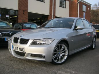 2007 BMW 3 SERIES 2.0 320I M SPORT,GEN 80,000 MILES,FSH,FULL LEATHER! £4995.00
