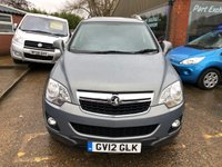 USED 2012 12 VAUXHALL ANTARA 2.2 EXCLUSIV CDTI 5 DOOR AUTOMATIC 4X4 161 BHP IN METALLIC GREY WITH 51000 MILES APPROVED CARS ARE PLEASED TO OFFER THIS VAUXHALL ANTARA 2.2 EXCLUSIV CDTI 5 DOOR AUTOMATIC 161 BHP IN METALLIC GREY WITH A GREAT SPEC INCLUDING Alloy wheels, ABS, 2 Keys +, Central locking, CD player, Metallic paint, Electric windows, Power steering, Air conditioning, (Half) Leather, Heated seats along with a full main dealer service history with 7 stamps in the service book.