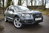 USED 2014 AUDI Q5 2.0 TDI QUATTRO S LINE PLUS START/STOP 5d 148 BHP 50,150 MILES, 1 OWNER, FULL AUDI SERVICE HISTORY, WOULD OF BEEN IN EXCESS OF £37,000 NEW! SATELLITE NAVIGATION, FULL LEATHER UPHOLSTERY WITH HEATED, ELECTRIC & DRIVER MEMORY SEATS, CRUISE CONTROL, BLUETOOTH CONNECTIVITY, ELECTRIC TAILGATE, DAB RADIO, FRONT & REAR PARKING SENSORS + MUCH MORE!