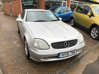 USED 2001 51 MERCEDES-BENZ SLK 2.3 SLK230 KOMPRESSOR 2d AUTO 197 BHP CONVERTIBLE IN SILVER APPROVED CARS ARE PLEASED TO OFFER THIS MERCEDES-BENZ SLK 2.3 SLK230 KOMPRESSOR 2 DOOR AUTO 197 BHP CONVERTIBLE IN SILVER WITH FULL SERVICE HISTORY WITH 10 STAMPS IN THE SERVICE BOOK.