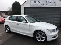 2009 BMW 1 SERIES 2.0 118D SPORT 5d 141 BHP LOOKS SUPERB IN WHITE, VERY ECONOMICAL  £SOLD