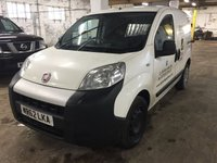 2012 FIAT FIORINO 1.2 16V MULTIJET SX 1d 75 BHP R/CD PLAYER MOT 02/19 NO VAT £4700.00