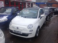 USED 2011 11 FIAT 500 1.2 LOUNGE 3d 69 BHP 41000 miles, best colour, low tax, low insurance, superb.