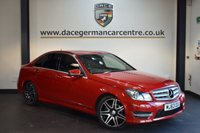USED 2013 63 MERCEDES-BENZ C CLASS 2.1 C220 CDI BLUEEFFICIENCY AMG SPORT PLUS 4DR 168 BHP + FULL SERVICE HISTORY + NAVIBOX PREINSTALLATION + AIR CONDITIONER + LEATHER INTERIOR + PARKING SENSORS + 18 INCH ALLOY WHEELS +