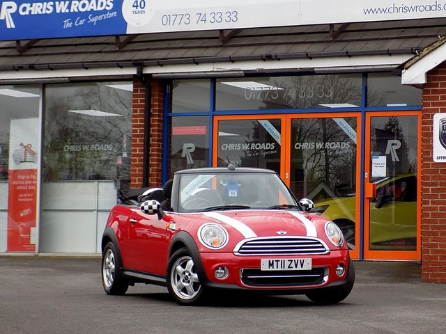 USED 2011 11 MINI CONVERTIBLE 1.6 ONE 2d 98 BHP *ONLY 9.9% APR*