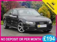 2011 AUDI A4 2.0 TDI S-LINE  BLACK EDITION SAT NAV + SUNROOF £10950.00