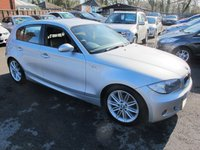 2008 BMW 1 SERIES 1.6 116I M SPORT 5d 121 BHP FULL LEATHER LOW MILES £5499.00