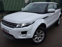 2012 LAND ROVER RANGE ROVER EVOQUE 2.2 SD4 PURE TECH 5d AUTO 190 BHP SAT NAV PAN ROOF LEATHER FSH £20490.00