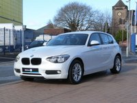 USED 2013 63 BMW 1 SERIES 2.0 118D SE 5d  FULL BMW HISTORY ~ BLUETOOTH ~ PEARL WHITE ~ SAT NAV & MEDIA ~ REAR PARK ASSIST ~ ALLOYS ~ AIR CONDITIONING