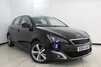 USED 2014 64 PEUGEOT 308 1.6 E-HDI ALLURE 5DR 114 BHP SERVICE HISTORY + SAT NAVIGATION + REVERSE CAMERA + BLUETOOTH + CRUISE CONTROL + DAB RADIO + 17 INCH ALLOY WHEELS
