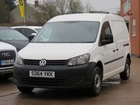 USED 2014 64 VOLKSWAGEN CADDY MAXI 1.6 C20 TDI STARTLINE BLUEMOTION TECHNOLOGY 1d 101 BHP NO VAT TO PAY, ONE OWNER FROM NEW
