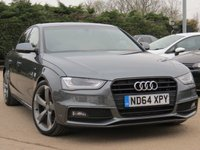 USED 2014 64 AUDI A4 2.0 TDI S LINE BLACK EDITION 4d 148 BHP 19 INCH ALLOYS, BANG + OLUFSEN SOUND + HALF LEATHER