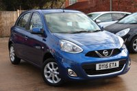 USED 2015 15 NISSAN MICRA 1.2 ACENTA 5d 79 BHP * LOW MILEAGE * ONE PREVIOUS OWNER *