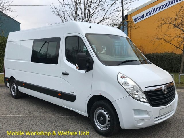 2013 63 VAUXHALL MOVANO 2.3 F3500 L3H2 CDTi 100 LWB [ MOBILE WORKSHOP,CREW,MESS,WELFARE,WINDOW ] VAN LOW MILEAGE ,FREE UK DELIVERY