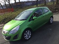 USED 2012 12 VAUXHALL CORSA 1.0 ACTIVE ECOFLEX 3d 64BHP 1OWNER FROM NEW+2KEYS+ALLOYS+