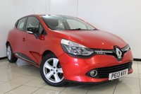 USED 2013 13 RENAULT CLIO 1.5 DYNAMIQUE MEDIANAV ENERGY DCI S/S 5DR 90 BHP RENAULT SERVICE HISTORY + SAT NAVIGATION + BLUETOOTH + CRUISE CONTROL + MULTI FUNCTION WHEEL + AIR CONDITIONING + 16 INCH ALLOY WHEELS