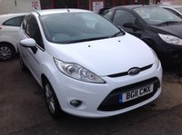 USED 2011 11 FORD FIESTA 1.2 ZETEC 3d 81 BHP White, 44000 miles, superb. The best available.