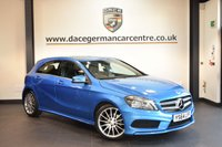 USED 2015 64 MERCEDES-BENZ A CLASS 1.5 A180 CDI BLUEEFFICIENCY AMG SPORT 5DR 109 BHP + HALF BLACK LEATHER INTERIOR + FULL MERC SERVICE HISTORY + 1 OWNER FROM NEW + SAT NAV PREP + BLUETOOTH + SPORT SEATS + RAIN SENSORS + CRUISE CONTROL + 18 INCH ALLOY WHEELS +