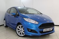 USED 2013 63 FORD FIESTA 1.0 ZETEC S 3DR 124 BHP SERVICE HISTORY + HEATED LEATHER SEATS + BLUETOOTH + MULTI FUNCTION WHEEL + RADIO/CD + 17 INCH ALLOY WHEELS