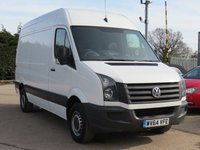 USED 2014 64 VOLKSWAGEN CRAFTER 2.0 CR35 TDI P/V H/R BLUEMOTION TECHNOLOGY 1d 107 BHP NO VAT TO PAY, ONE OWNER FROM NEW