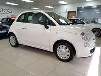 2012 FIAT 500 1.2 POP 3d WHITE LOW MILES SERVICE HISTORY £4290.00