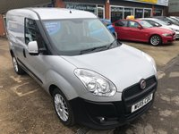 USED 2015 15 FIAT DOBLO 2.0 16V SX MULTIJET 2 DOOR 135 BHP IN SILVER AND ALLOYS WITH NO VAT. APPROVED CARS ARE PLEASED TO OFFER THIS FIAT DOBLO 2.0 16V SX MULTIJET 2 DOOR 135 BHP IN SILVER WITH ALLOYS WITH NO VAT IN IMMACULATE CONDITION INSIDE AND OUT WITH A DOCUMENTED SERVICE HISTORY A GREAT VAN IN GREAT CONDITION.THIS VAN IS BEING SOLD WITH NO VAT