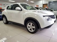 2013 NISSAN JUKE 1.6 VISIA 5d WHITE ONE COMPANY OWNER FROM NEW £5790.00