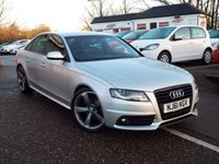 USED 2011 61 AUDI A4 2.0 TDI S LINE BLACK EDITION 4d 168 BHP FULL Audi Service History with recent service at 50364 Miles
