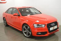 USED 2014 63 AUDI A4 3.0 TDI QUATTRO S LINE BLACK EDITION 4d AUTO 241 BHP SOUGHT AFTER MODEL + FULL AUDI HISTORY + 19 INCH WHEELS + 240 BHP