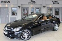 USED 2015 15 MERCEDES-BENZ E CLASS 2.1 E250 CDI AMG LINE 2d AUTO 201 BHP FULL LEATHER SEATS + COMAND SAT NAV + REVERSE CAMERA + 18 INCH ALLOYS + BLUETOOTH + HEATED FRONT SEATS + DAB RADIO + CRUISE CONTROL + ACTIVE PARK ASSIST
