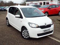 USED 2014 14 SKODA CITIGO 1.0 SE 12V 5d 59 BHP ONE Owner Only £20 Road Tax