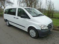 2014 MERCEDES-BENZ VITO 2.1 116 CDI TRAVELINER 5d AUTO 163 BHP £18000.00