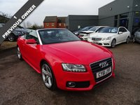 USED 2011 61 AUDI A5 2.0 TFSI S LINE 2d AUTO 208 BHP With 1 previous keeper showing as Sinclair group and then the current owner having since 2012 and a current MOT This car comes with a manual pack and 2 keys (spare key not tested). The service book shows stamps at 19,955 & 39,882 both Audi stamps & 52,561 / 70,719 / 80,402 / 89,402miles.