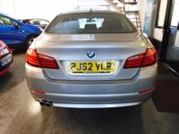 USED 2013 62 BMW 5 SERIES 2.0 520D SE 4d AUTO 181 BHP Two owners, full BMW service history, June Mot. Finished in Cashmere Silver with Black Dakota Leather