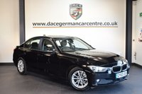 USED 2014 63 BMW 3 SERIES 2.0 320D EFFICIENTDYNAMICS BUSINESS 4DR AUTO 161 BHP + FULL BLACK LEATHER INTERIOR + FULL BMW SERVICE HISTORY + 1 OWNER FROM NEW + PRO SATELLITE NAVIGATION + HEATED SEATS + BLUETOOTH + DAB RADIO + RAIN SENSORS + PARKING SENSORS + 16 INCH ALLOY WHEELS +