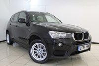 USED 2014 64 BMW X3 2.0 XDRIVE20D SE 5DR AUTOMATIC 188 BHP HEATED LEATHER SEATS + SAT NAVIGATION + PARKING SENSOR + BLUETOOTH + CRUISE CONTROL + MULTI FUNCTION WHEEL + CLIMATE CONTROL + 17 INCH ALLOY WHEELS