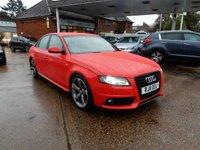 2011 AUDI A4 1.8 TFSI S LINE BLACK EDITION 4d 158 BHP £9490.00