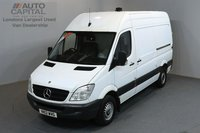 USED 2012 12 MERCEDES-BENZ SPRINTER 2.1 313 CDI 129 BHP MWB HIGH ROOF ONE OWNER FROM NEW