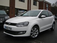 USED 2012 62 VOLKSWAGEN POLO 1.4 MATCH 3d 83 BHP