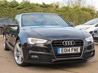 USED 2014 14 AUDI A5 2.0 TDI S LINE SPECIAL EDITION 2d AUTO 175 BHP CONVERTIBLE, SAT NAV, 19 INCH ALLOYS, FULL LEATHER