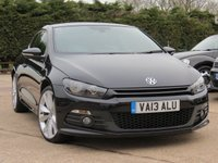 USED 2013 13 VOLKSWAGEN SCIROCCO 2.0 R LINE TDI DSG 2d AUTO 175 BHP AUTOMATIC, FULL LEATHER INTERIOR + SATELLITE NAVIGATION