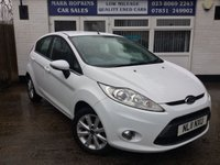 USED 2011 11 FORD FIESTA 1.4 ZETEC TDCI 5d 69 BHP 52K FSH 2 OWNERS HIGH MPG LOW INSURANCE £20/YR TAX EXCELLENT CONDITION