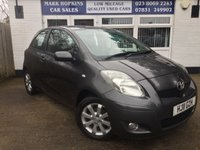 USED 2011 11 TOYOTA YARIS 1.3 T SPIRIT VVT-I 3d 99 BHP 59K FSH 6 SPEED SAT/NAV R PARK SENSORS EXCELLENT CONDITION