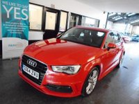 USED 2014 64 AUDI A3 2.0 SPORTBACK TDI S LINE 5d 182 BHP One owner, Full service history, November Mot. Finished in Brilliant Red with Black Sprint Cloth & leather seats with S-Line Logo
