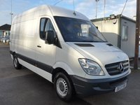 2013 MERCEDES-BENZ SPRINTER 313 CDI MWB HI ROOF, 130 BHP [EURO 5], FULL SERVICE HISTORY, 1 COMPANY OWNER £SOLD