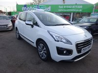 USED 2014 64 PEUGEOT 3008 1.6 E-HDI ACTIVE 5d AUTO 115 BHP ***£20 ROAD TAX***AUTO DIESEL***